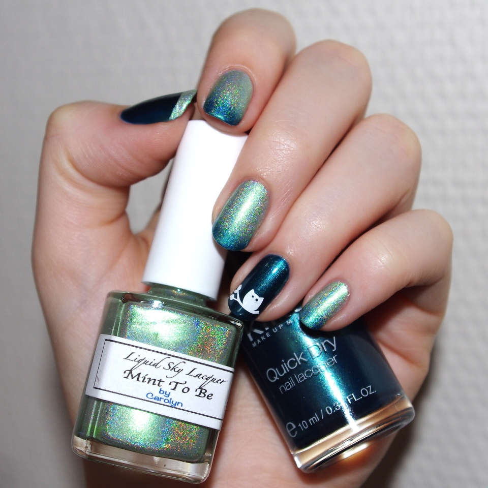 Bulleuw:Mint to Be nail art 1