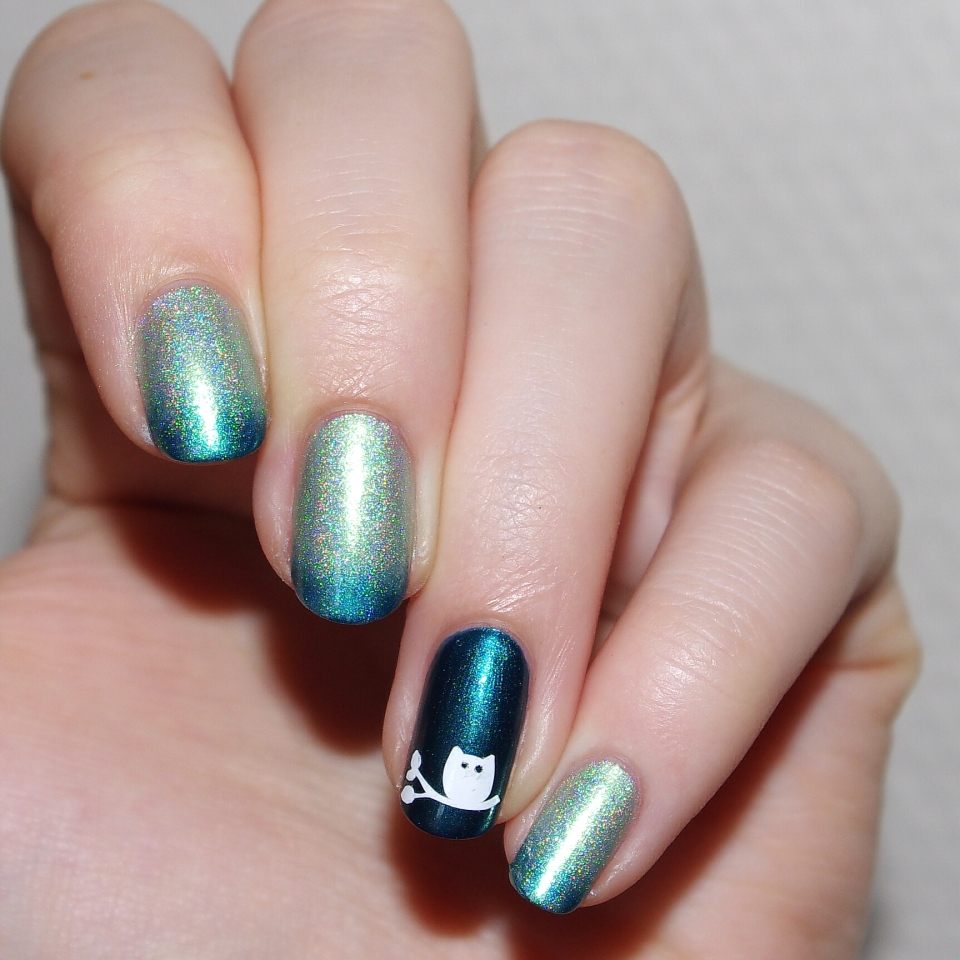 Bulleuw:Mint to Be nail art 3