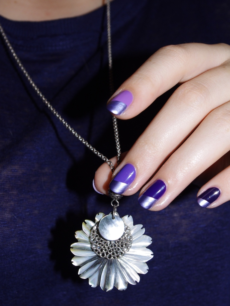 Bulleuw:Ombré Nails Purple 4