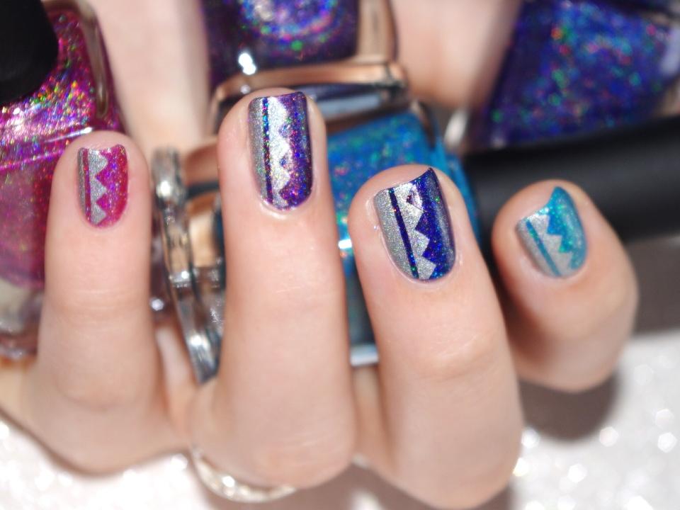 Bulleuw:Ombré Ultra Holo Nail ART 3