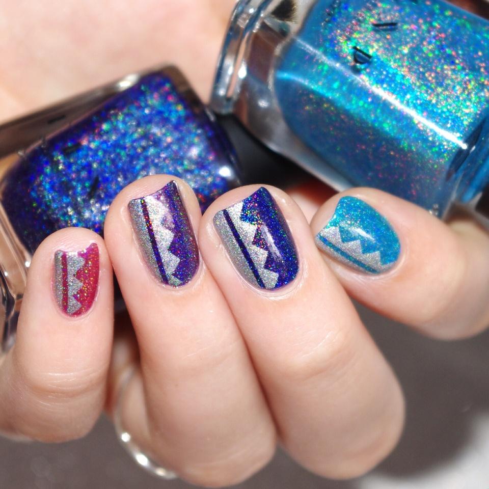 Bulleuw:Ombré Ultra Holo Nail ART 5
