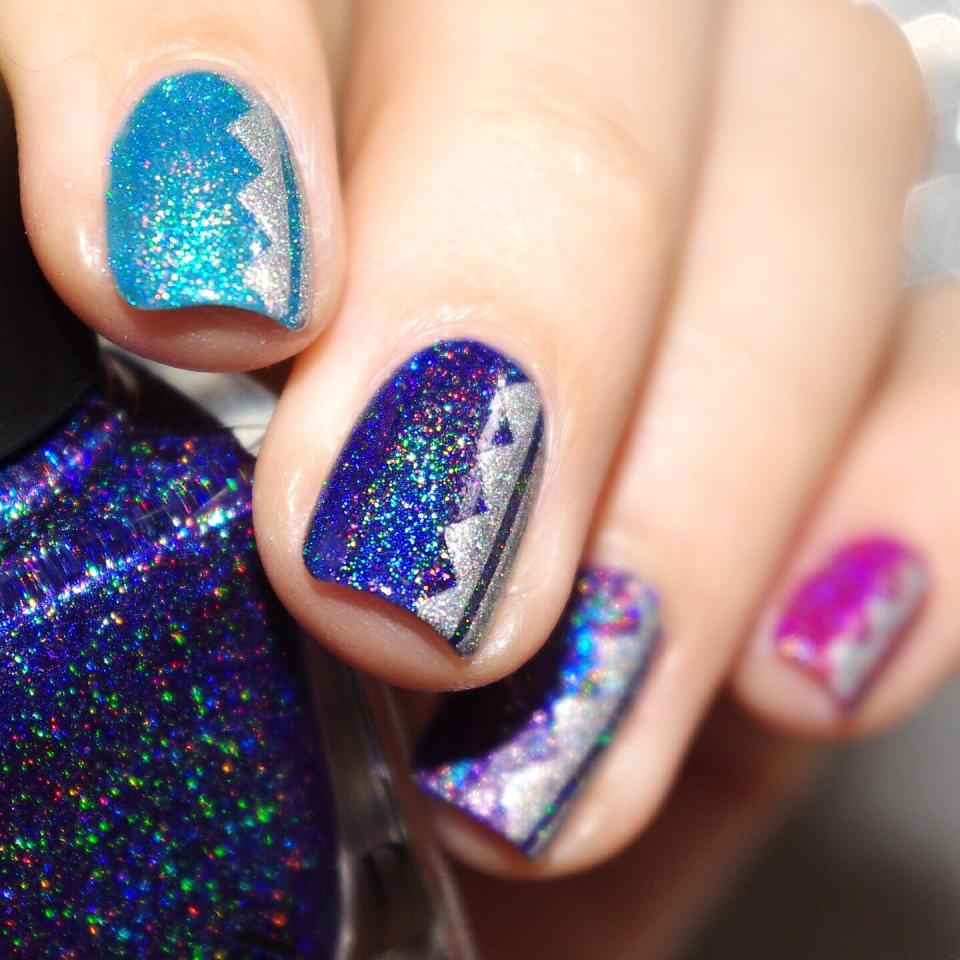 Bulleuw:Ombré Ultra Holo Nail ART 8