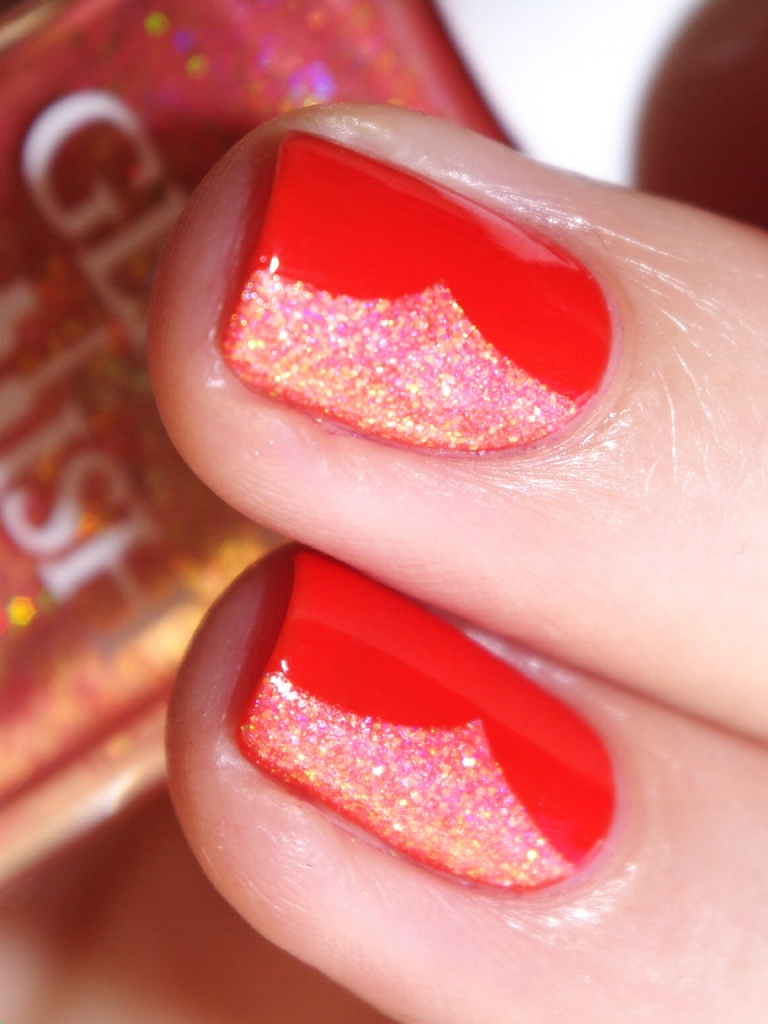 Bulleuw:31DC2015 Orange nails 10