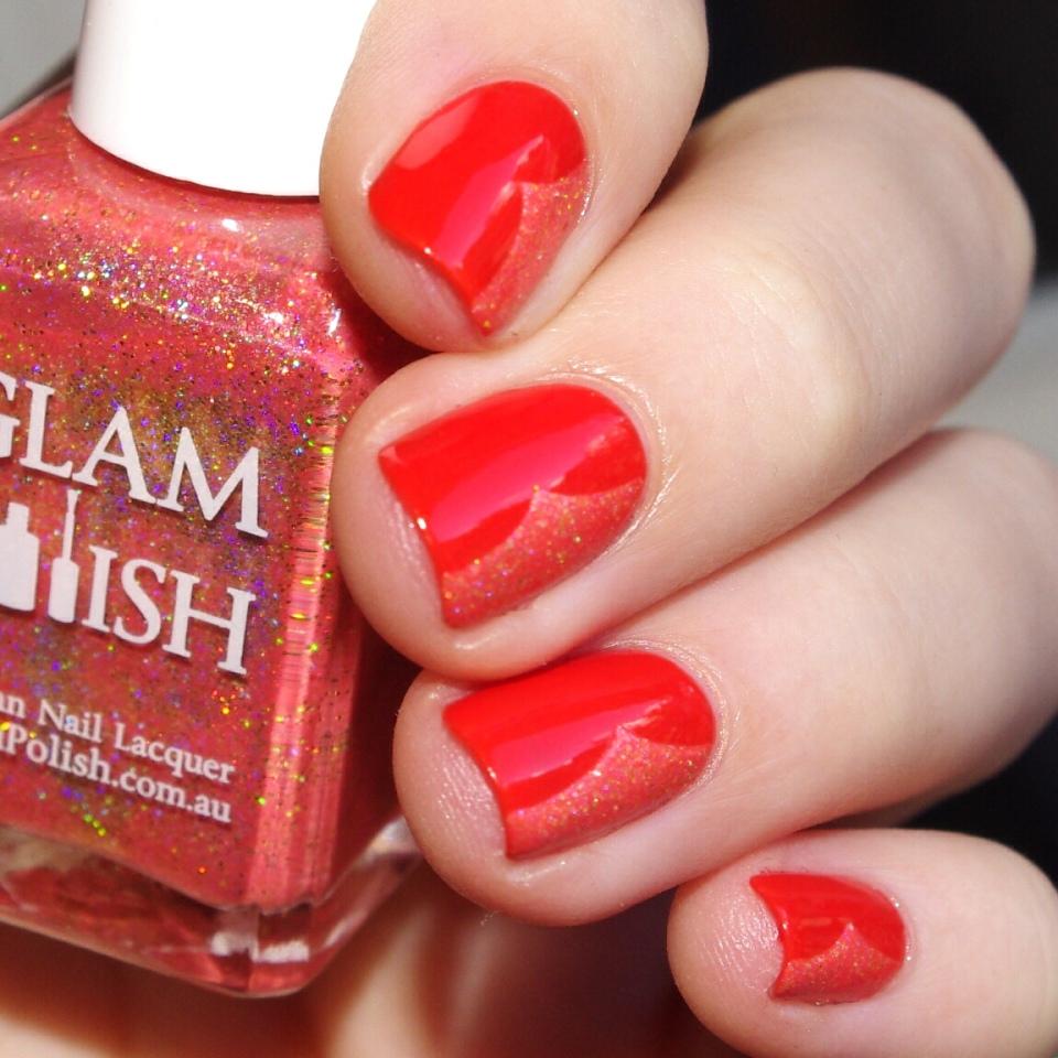 Bulleuw:31DC2015 Orange nails 5
