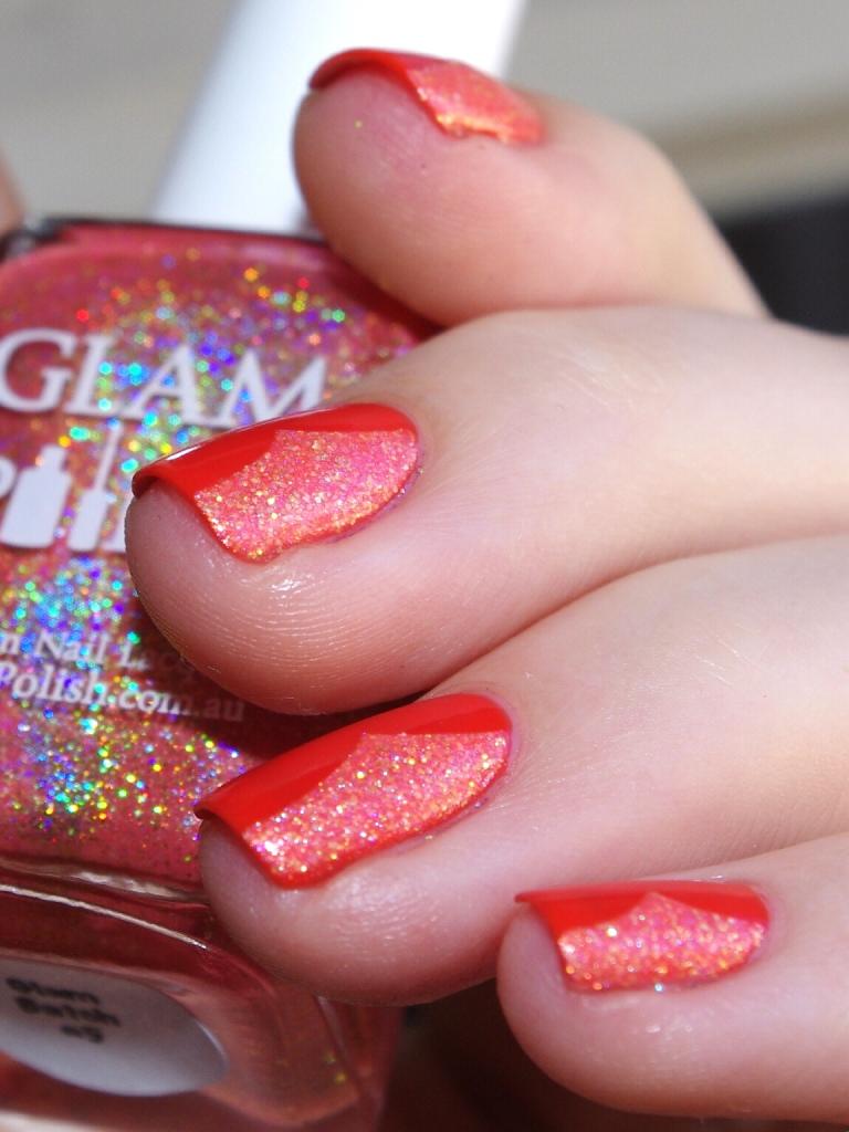 Bulleuw:31DC2015 Orange nails 6