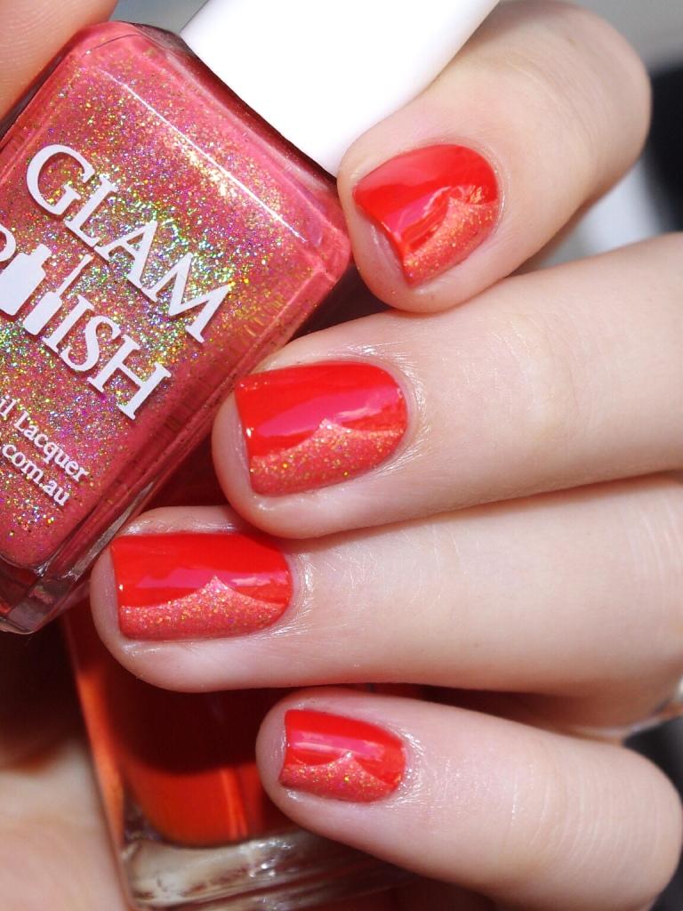 Bulleuw:31DC2015 Orange nails 7