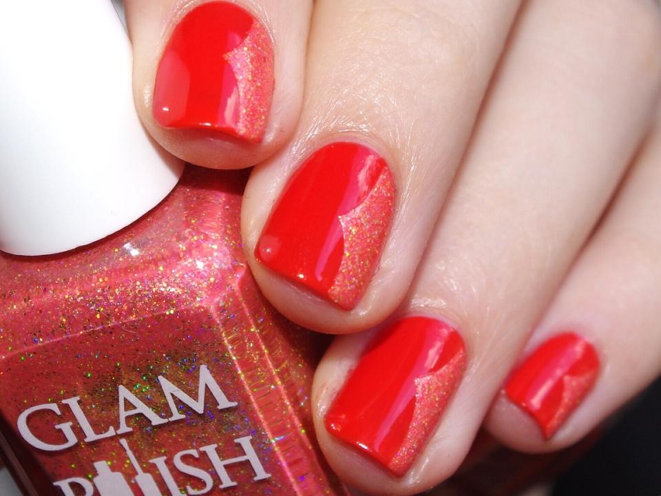 Bulleuw:31DC2015 Orange nails 8